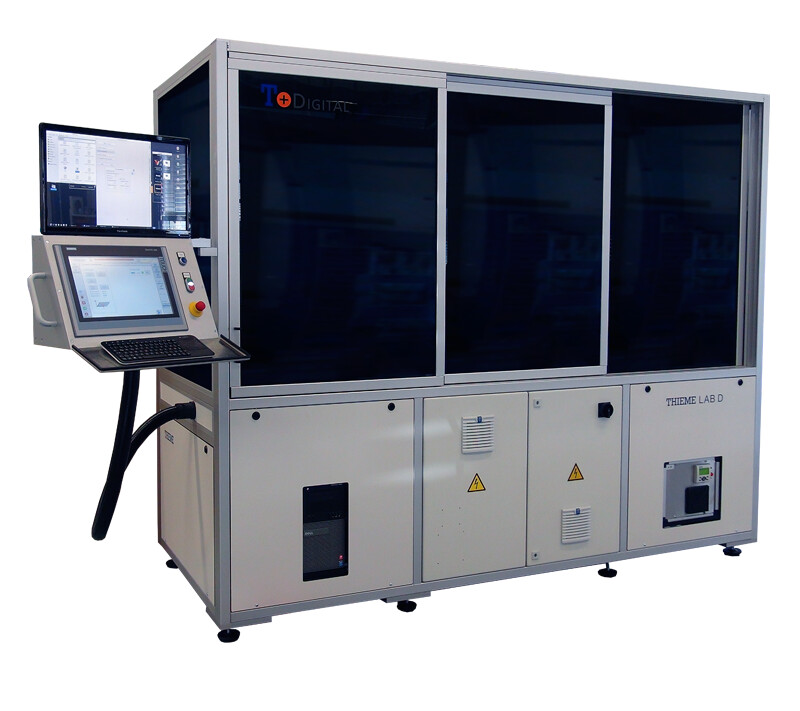 Digital printing machine for product and process development