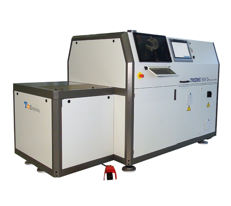 Digital printing system for printing on films, which are then deep-drawn or back-injected (IML)