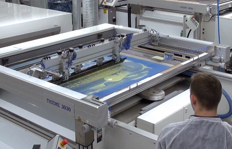 Screen printing machine in application