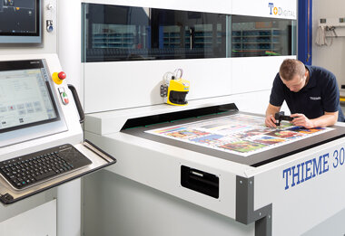 Screen and digital printing machines