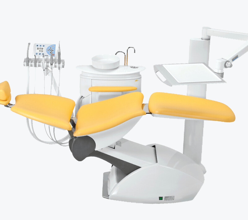 PUR integral hard foam using the example of a dentist's chair