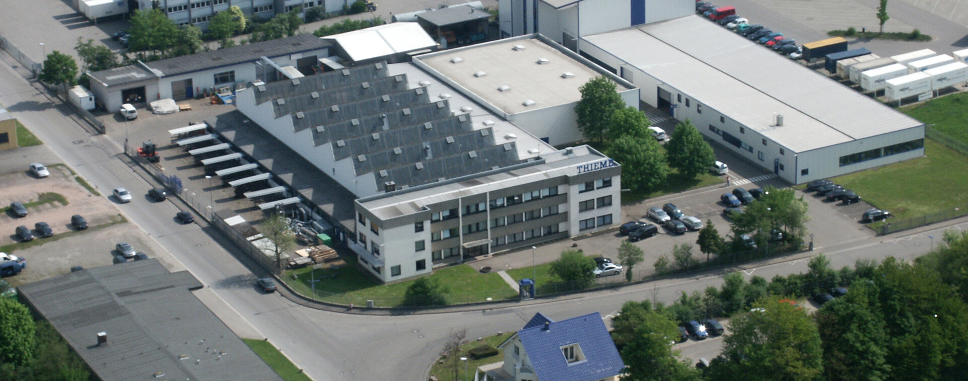 Thieme Printing Systems - Industrial area Rohlache - Aerial view